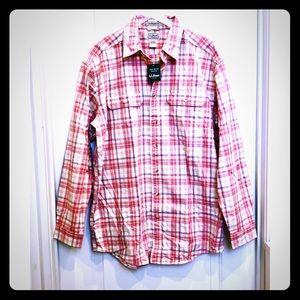 L.L. Bean Plaid Traditional Fit Button Down Tall L